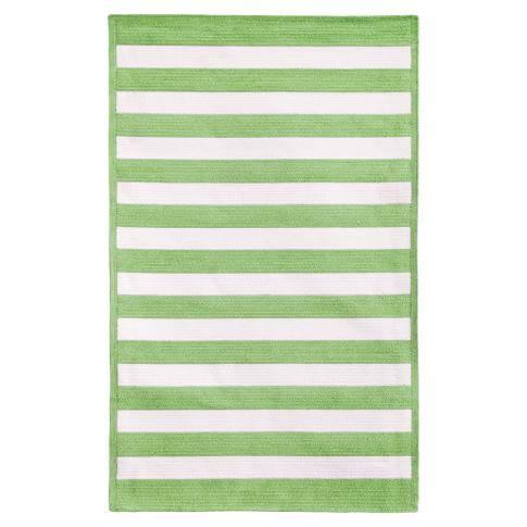 Capel Cottage Stripe Rug, Mint, 3x5