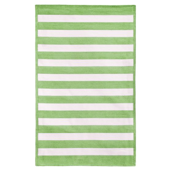 Capel Cottage Stripe Rug, Mint, 3x5