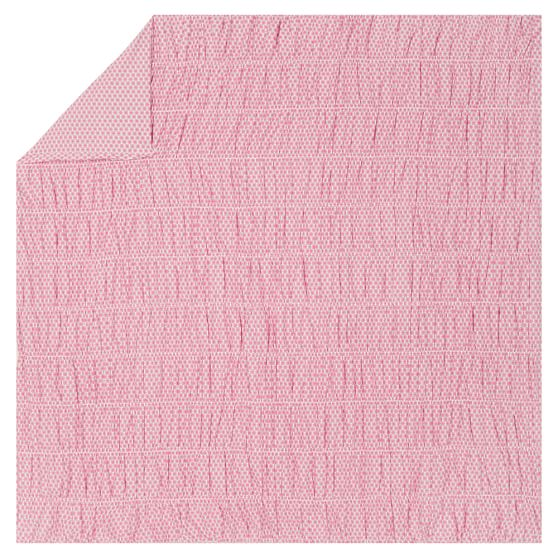Ditsy Dot Ruched Duvet Cover, Full/Queen, Pink Multi