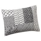 Bella Patch Standard Sham, Black