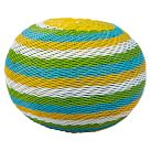 Color Pop Woven Table, Round, Blue/Green/Yellow