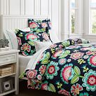Paper Cut Flower Duvet Cover + Sham, Twin, Multi
