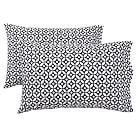 Petal Dot Pillowcases, Set of 2, Black