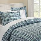 Bermuda Plaid Duvet Cover, Twin, Blue Multi