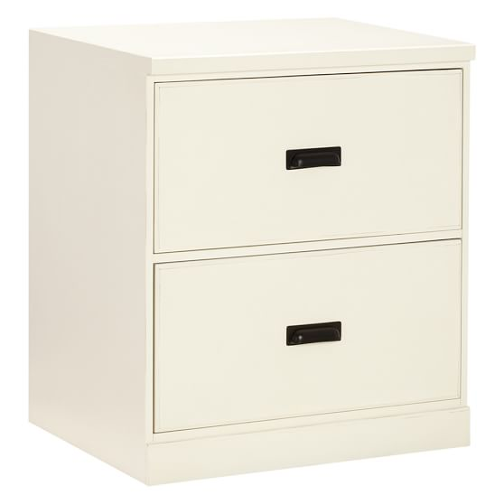 Paramount 2-Drawer Cabinet, Antique White