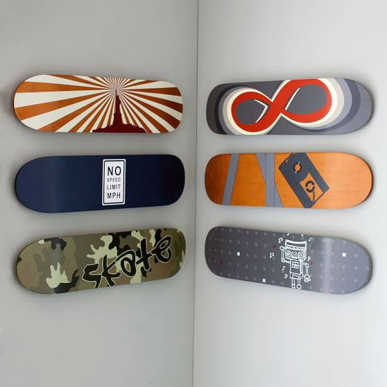 Skate Deck Wall Art, Set of 6