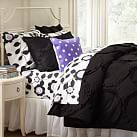 Ruffle Rings Duvet Cover, Twin, Black