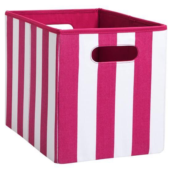 Mix `N Match Storage Medium Bin, Single, Cottage Stripe Pink