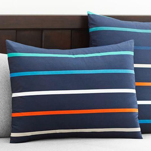 Newport Stripe Duvet Cover, Standard Sham, Multi