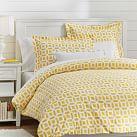 Peyton Duvet Cover, Twin, Yellow