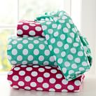 Dots-A-Lot Chamois Fitted Sheet, Twin/Twin XL, Pool