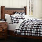 Mariner Madras Duvet, Twin, Navy/Dark Red