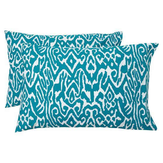 Urban Ikat Extra Pillowcases, Set of 2, Sea Blue