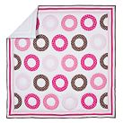Dottie Circle Quilt, Twin, Pink