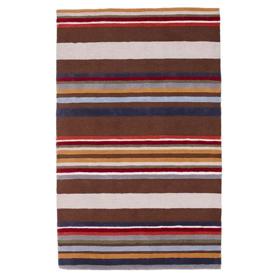 Park Stripe Rug, 5x8, Multi