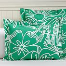 Morgan Floral, Standard Sham, Gumdrop Green