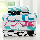 Bold Bloom Sheet Set, Twin/Twin XL, Teal Blue