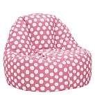 Personalized Painted Dot Leanback Lounger, Single, Pink