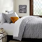 Florette Duvet Cover, Full/Queen, Black