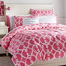Totally Trellis Comforter, Twin, Bright Pink
