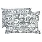 Tiki Surf Extra Pillowcases, Set of 2, Gray