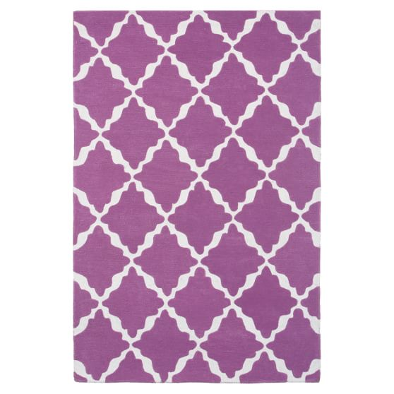 Lattice Rug, 3x5, Mauve