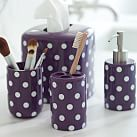 Dottie Bath Accessory, Toothbrush Holder, Dark Plum Dottie