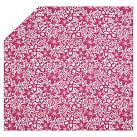 Isabel Floral Organic Duvet Cover, Twin, Pink Magenta