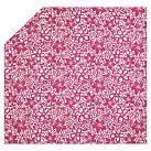 Isabel Floral Organic Duvet Cover, Twin, Pink Magenta