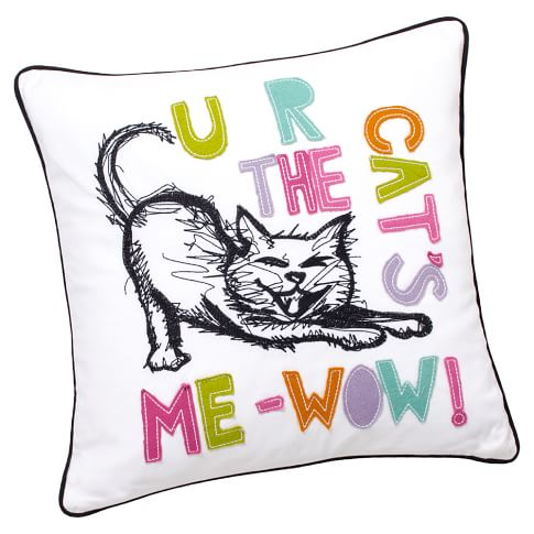 ASPCA Pet Pals Pillow Cover, 18x18, Cat