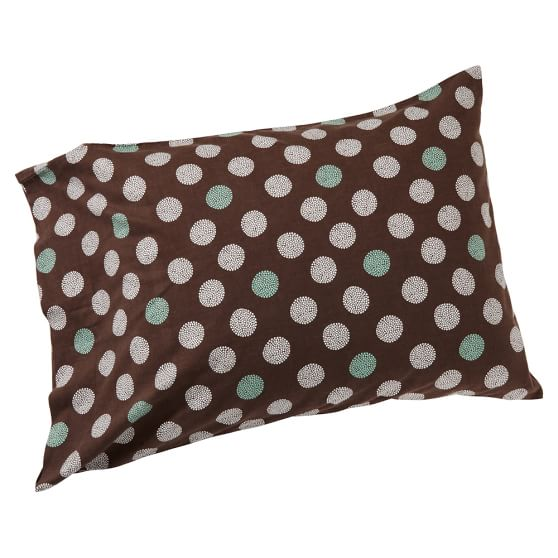 Snowball Pillowcase, Standard, Coffee