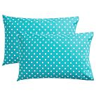 Dottie Pillowcases, Set of 2, Aquamarine
