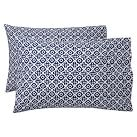 Boho Medallion Pillowcase, Standard, Set Of 2, Royal Navy