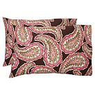 Cameron Paisley Pillowcase, Standard, Set Of 2, Brown Multi