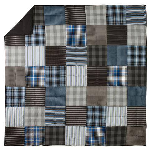 Preston Patchwork Quilt, Twin, Blue Multi