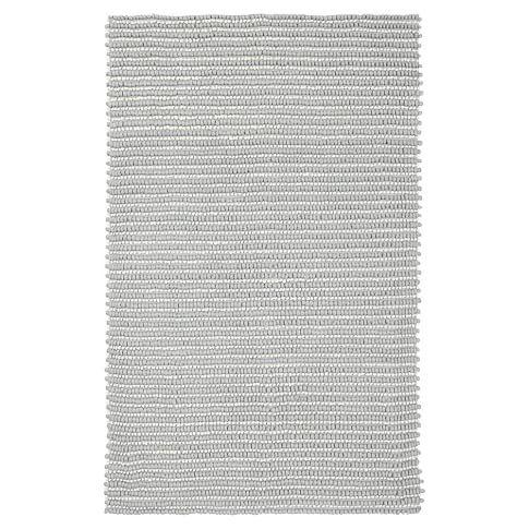 Tonal Texture Rug, 8x10, Silver/Ivory