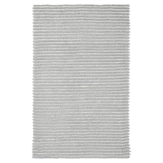 Tonal Texture Rug, 8x10, Silver/Ivory