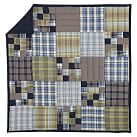Portland Plaid Quilt, Twin, Navy Multi