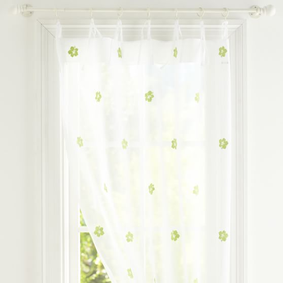 Embroidered Icon Sheer, 63'', Hibiscus