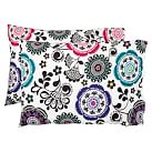 Fab Floral Pillowcases, Multi, Set Of Two, Standard