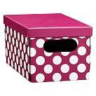 Dottie Printed Storage Bins, Mini, Pink Dottie