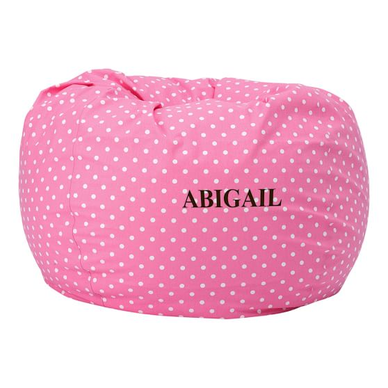 Large Beanbag Cover, Bright Pink Dottie