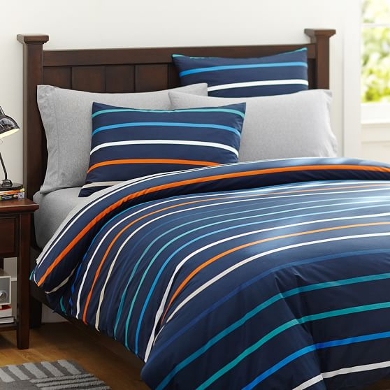 Newport Stripe Duvet Cover, Twin, Multi
