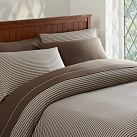 Tonal Stripe Favorite Tee Duvet Cover, Twin, Coffee