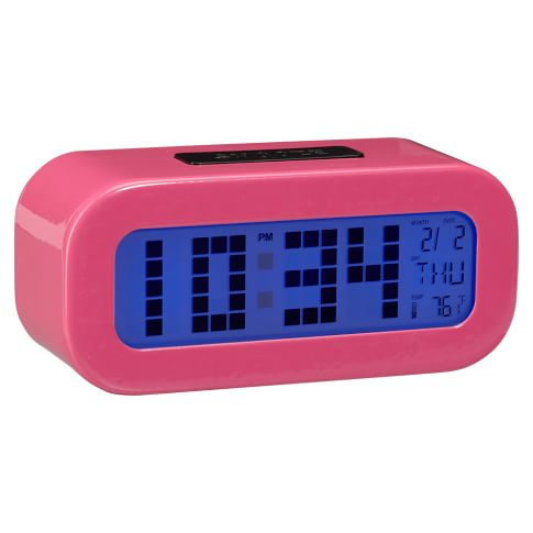 Rise and Shine Alarm Clock, Dark Pink