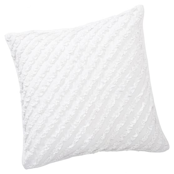 Fave Tee Ruffle Pillow Cover, Euro