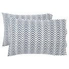 Ziggy Organic Ruched Pillowcase, Set Of 2, Standard, Royal Navy