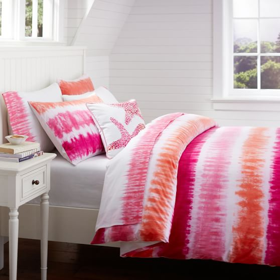 Reef Tie Dye Surf Duvet, Twin, Pink Multi
