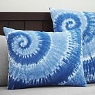 Surfers Point Tie Dye Duvet Cover, Standard Sham, Navy Multi