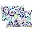 Flower Burst Extra Pillowcases, Set of 2, Cool